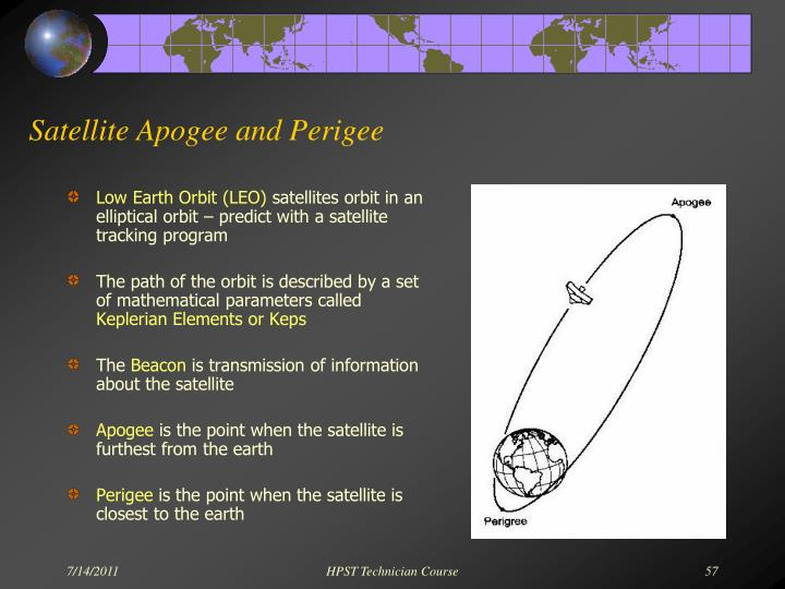 Satellite Apogee and Perigee