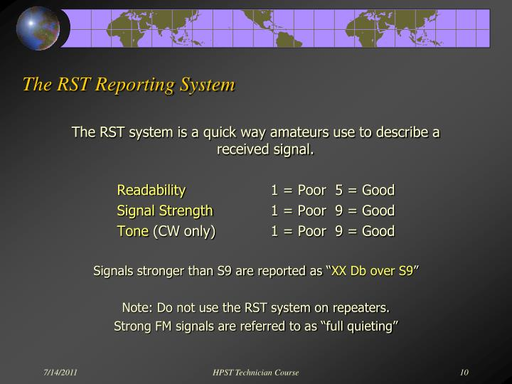 The RST Reporting System