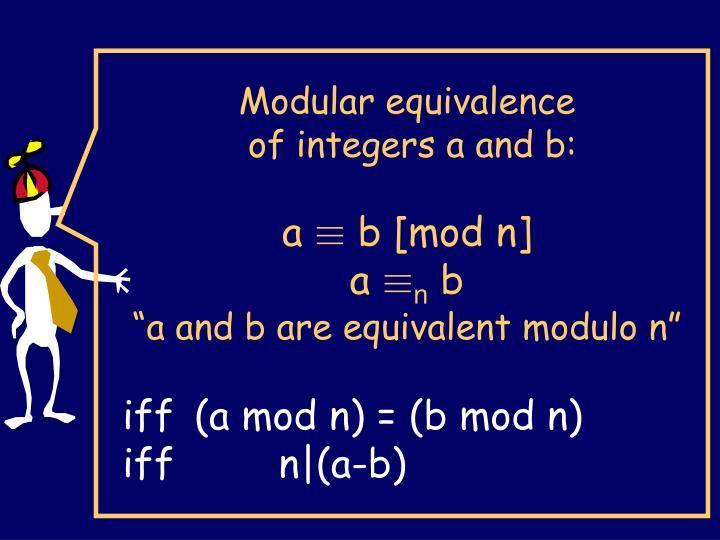 Modular equivalence