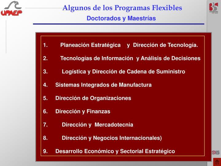 Algunos de los Programas Flexibles