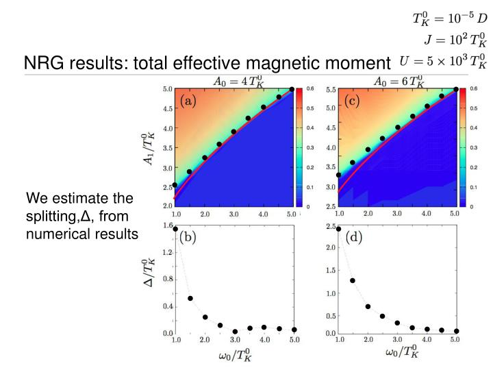 NRG results: total effective magnetic moment