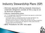industry stewardship plans isp