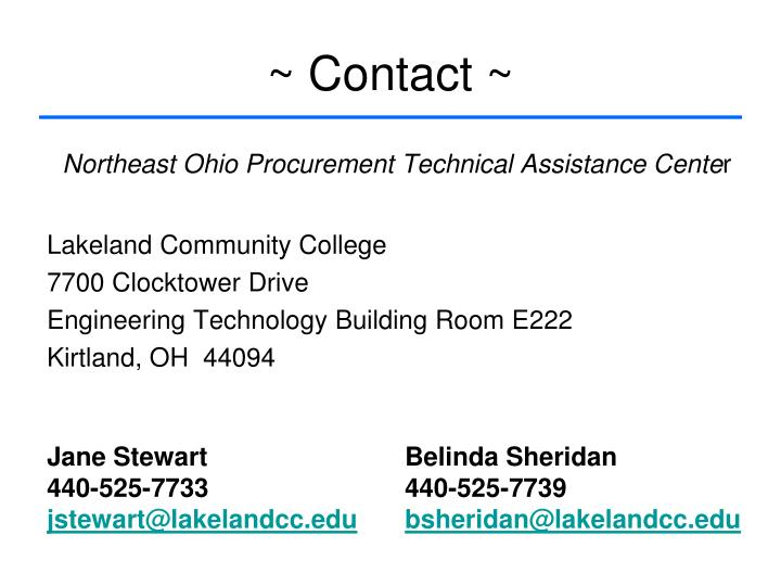 ~ Contact ~