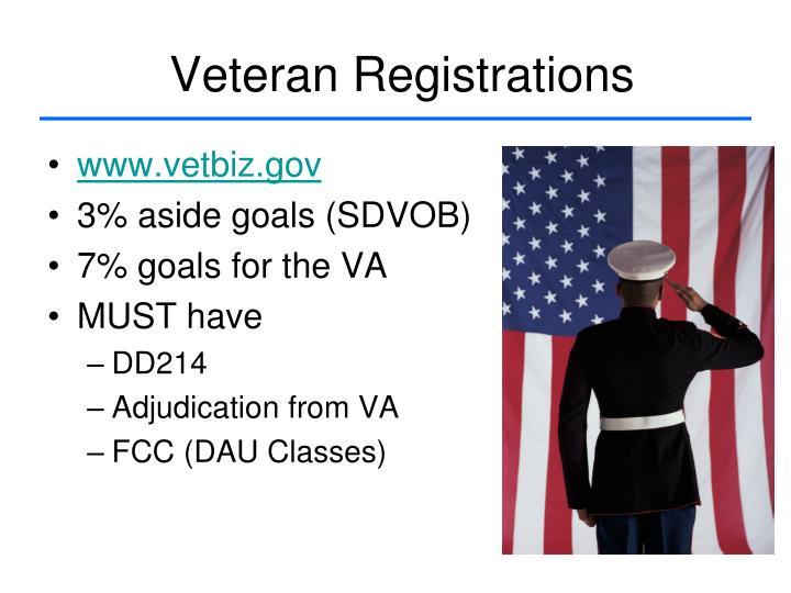 Veteran Registrations