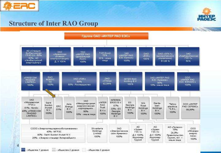 Structure of Inter RAO Group