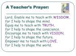 a teacher s prayer