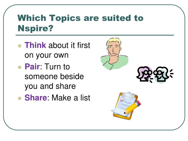 Which Topics are suited to Nspire?