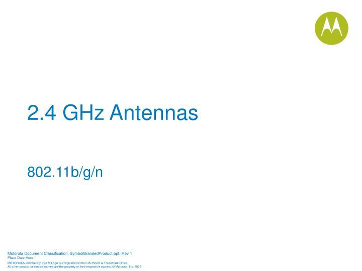2.4 GHz Antennas