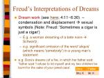 freud s interpretations of dreams