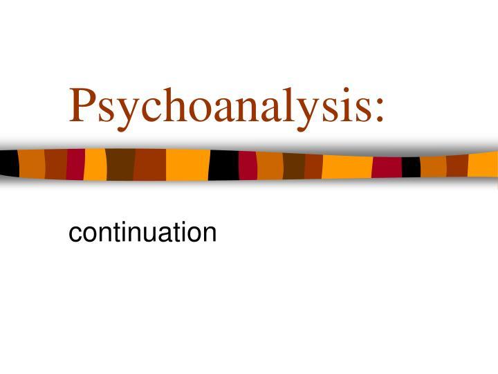 Psychoanalysis: