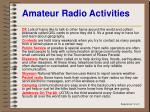 amateur radio activities