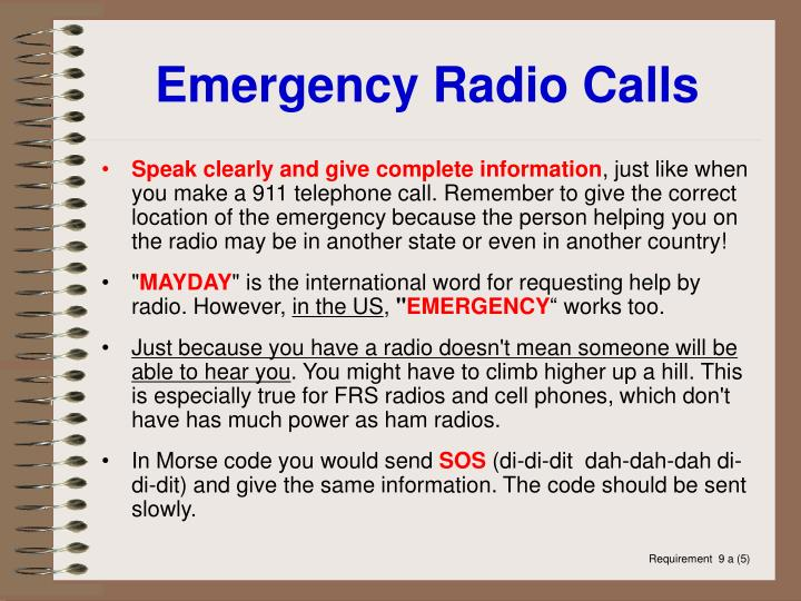Emergency Radio Calls