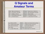 q signals and amateur terms
