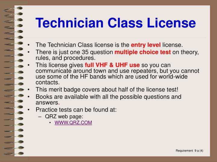 Technician Class License