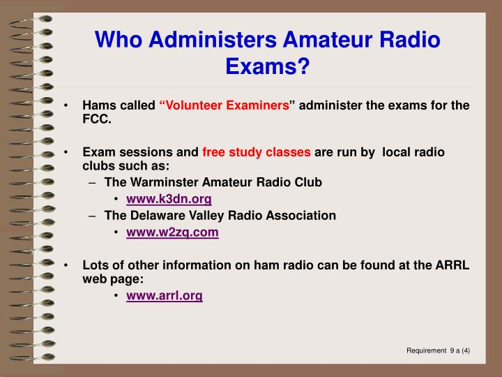 Who Administers Amateur Radio Exams?