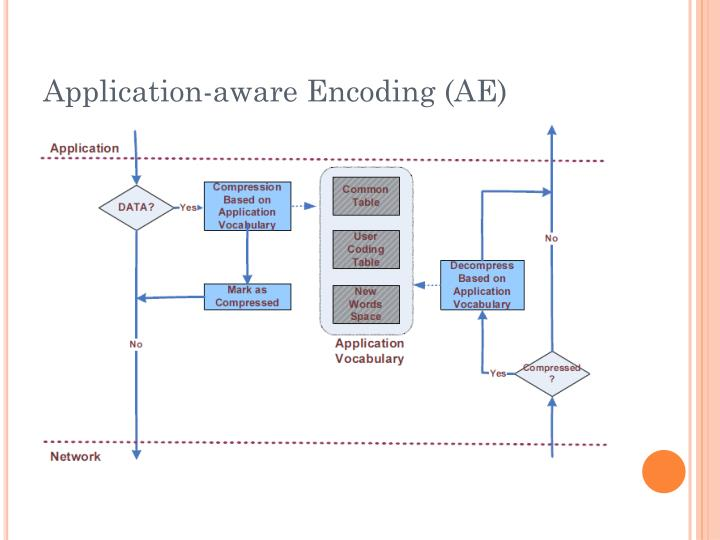 Application-aware Encoding (AE)