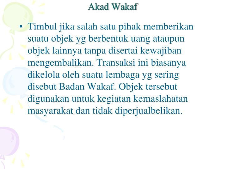 Akad Wakaf