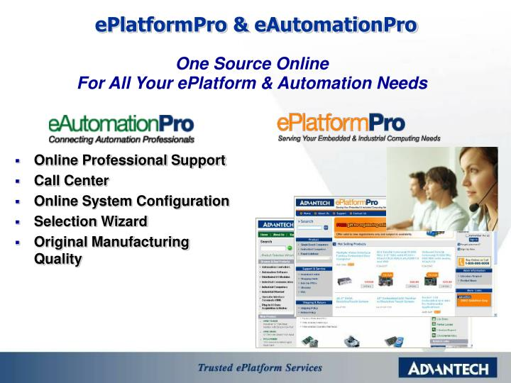 ePlatformPro & eAutomationPro