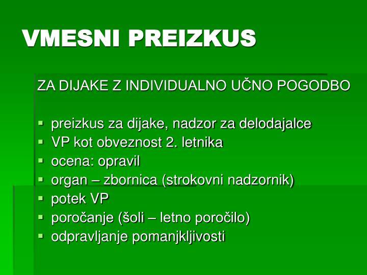 VMESNI PREIZKUS