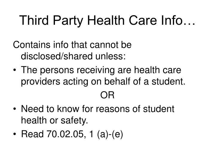 Third Party Health Care Info…