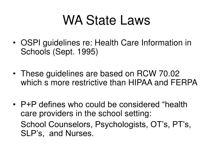 WA State Laws