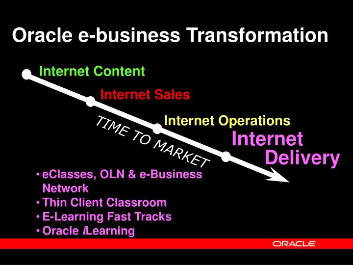 Oracle e-business Transformation