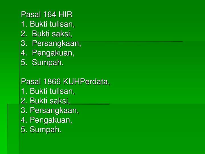 Pasal 164 HIR