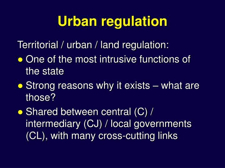 Urban regulatio