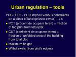 urban regulation tools