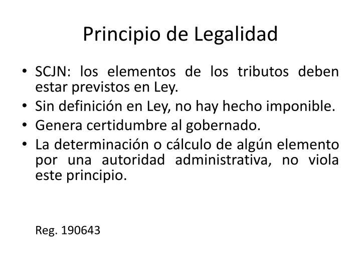 Principio de Legalidad