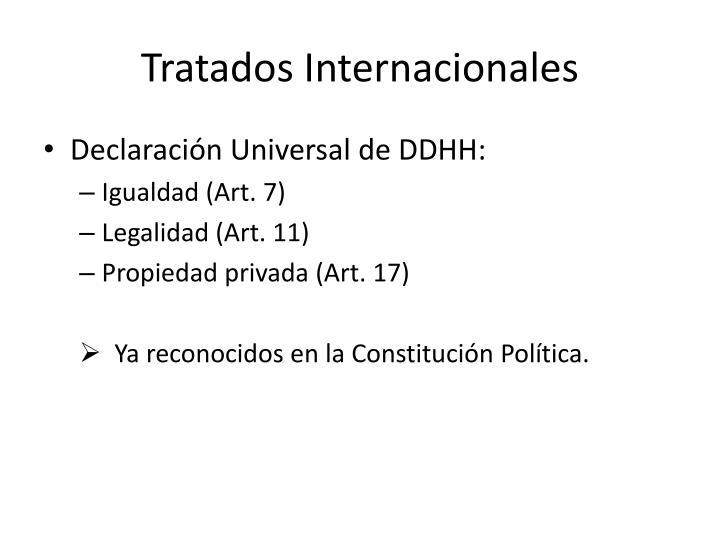 Tratados Internacionales