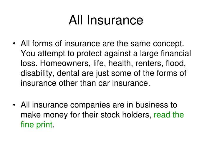 All Insurance