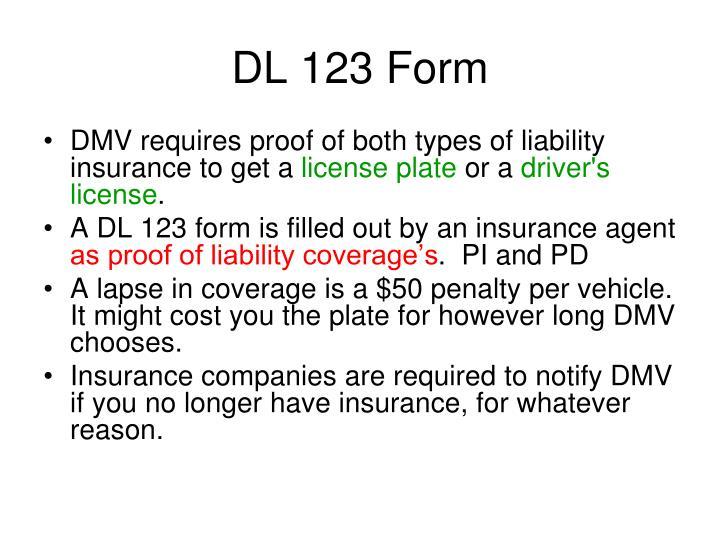 DL 123 Form