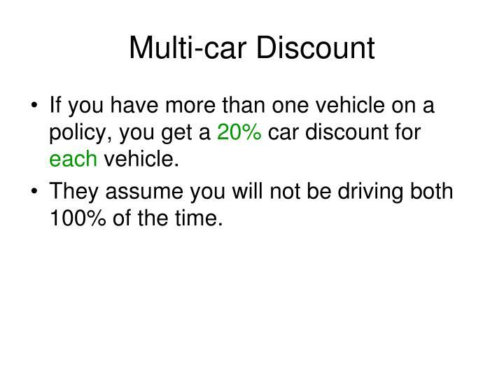 Multi-car Discount