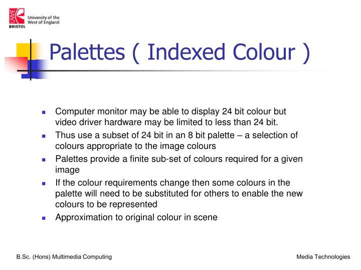 Palettes ( Indexed Colour )