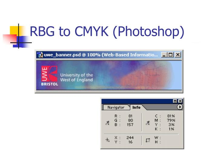 RBG to CMYK (Photoshop)