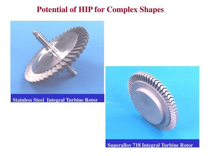 Stainless Steel  Integral Turbine Rotor