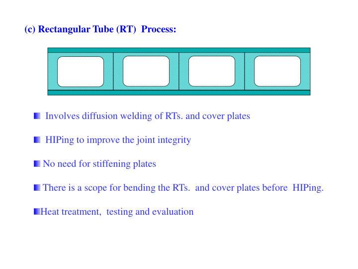 (c) Rectangular Tube (RT)  Process: