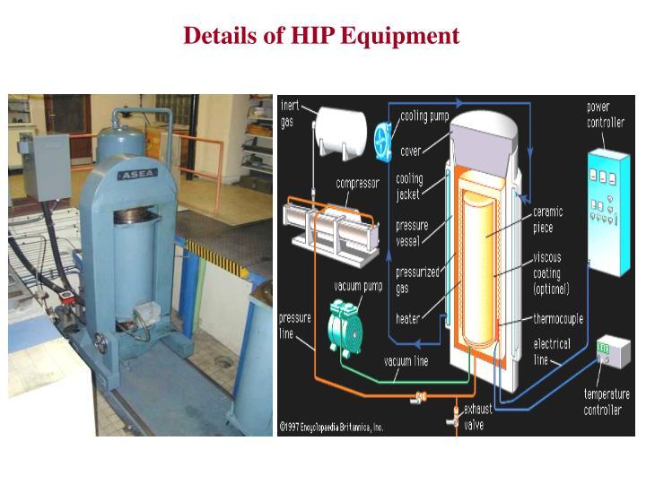 Details of HIP Equipment