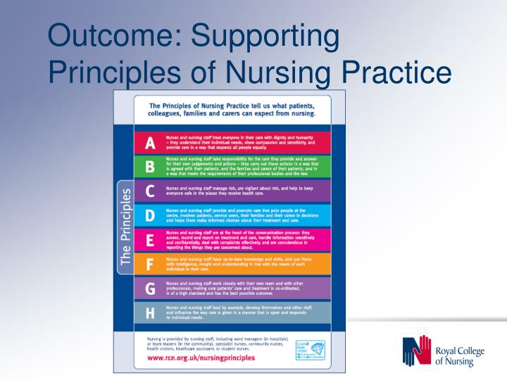 Outcome: Supporting Principles of Nursing Practice