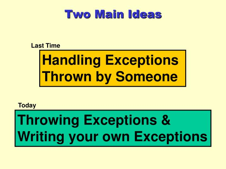 Two Main Ideas