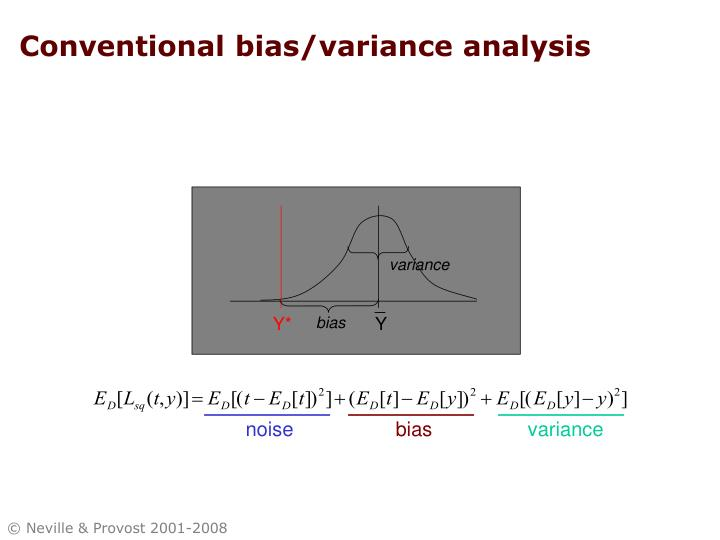 Conventional bias/variance analysis