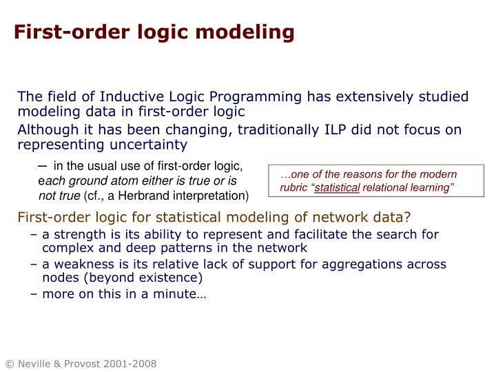 First-order logic modeling