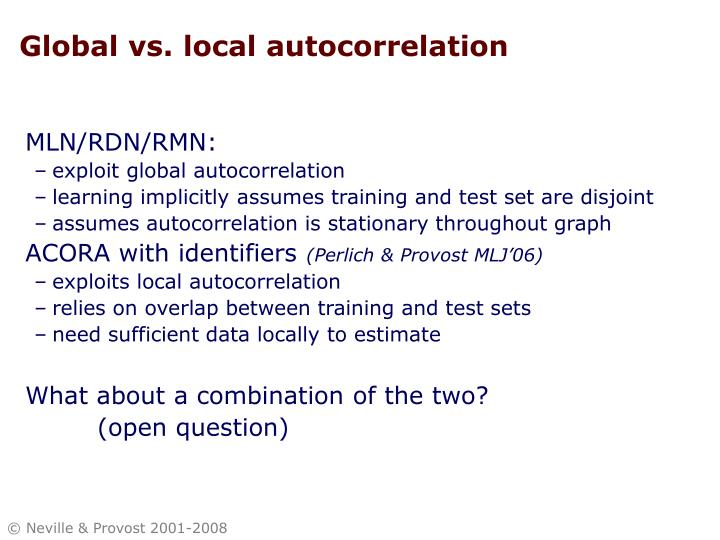 Global vs. local autocorrelation