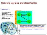 network learning and classification