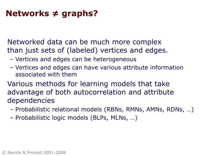 Networks ≠ graphs?
