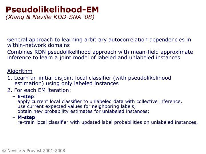 Pseudolikelihood-EM