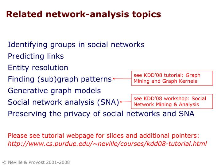Related network-analysis topics