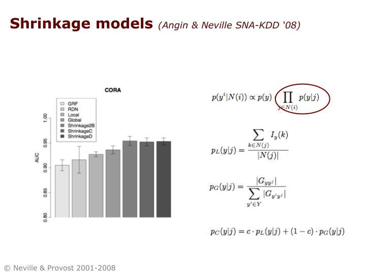 Shrinkage models