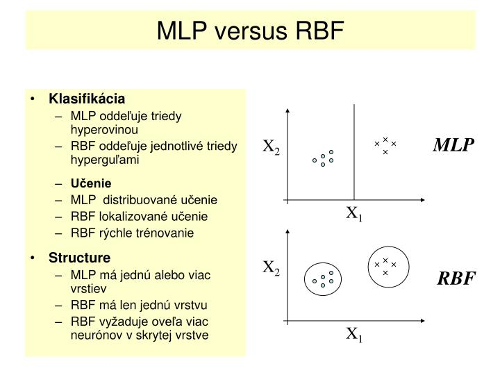 MLP versus RBF
